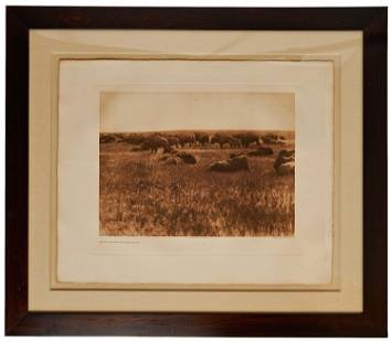 """Edward Curtis Stunning Photogravure Plate """"As It Was in"""
