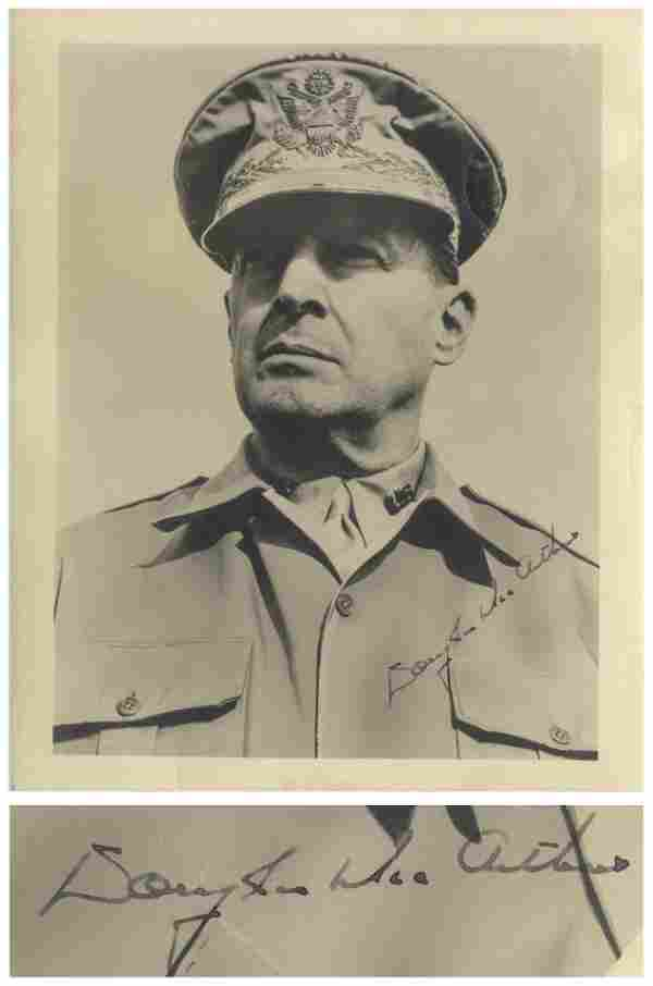 Douglas MacArthur Signed Photo of the General in
