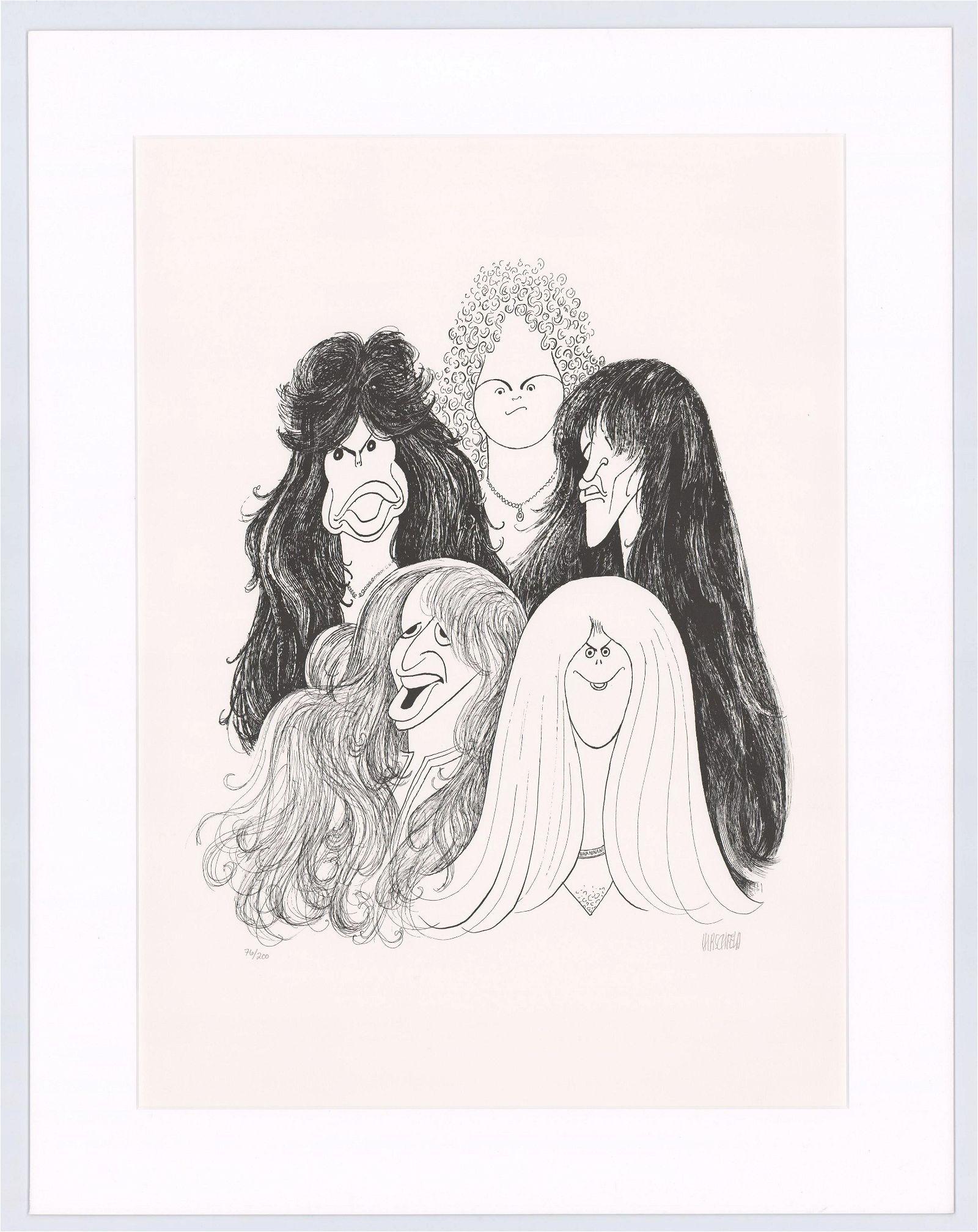 Aerosmith by Al Hirschfeld Signed Limited Print