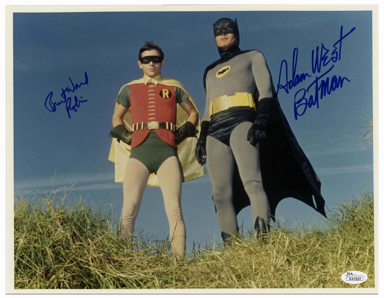 """Fantastic Large """"Batman"""" Photo Signed by Adam West and"""