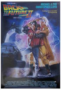 """Cast Signed Poster """"Back to the Future Part II"""""""