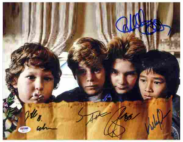 The Goonies Cast Signed Photo with PSA/DNA COA