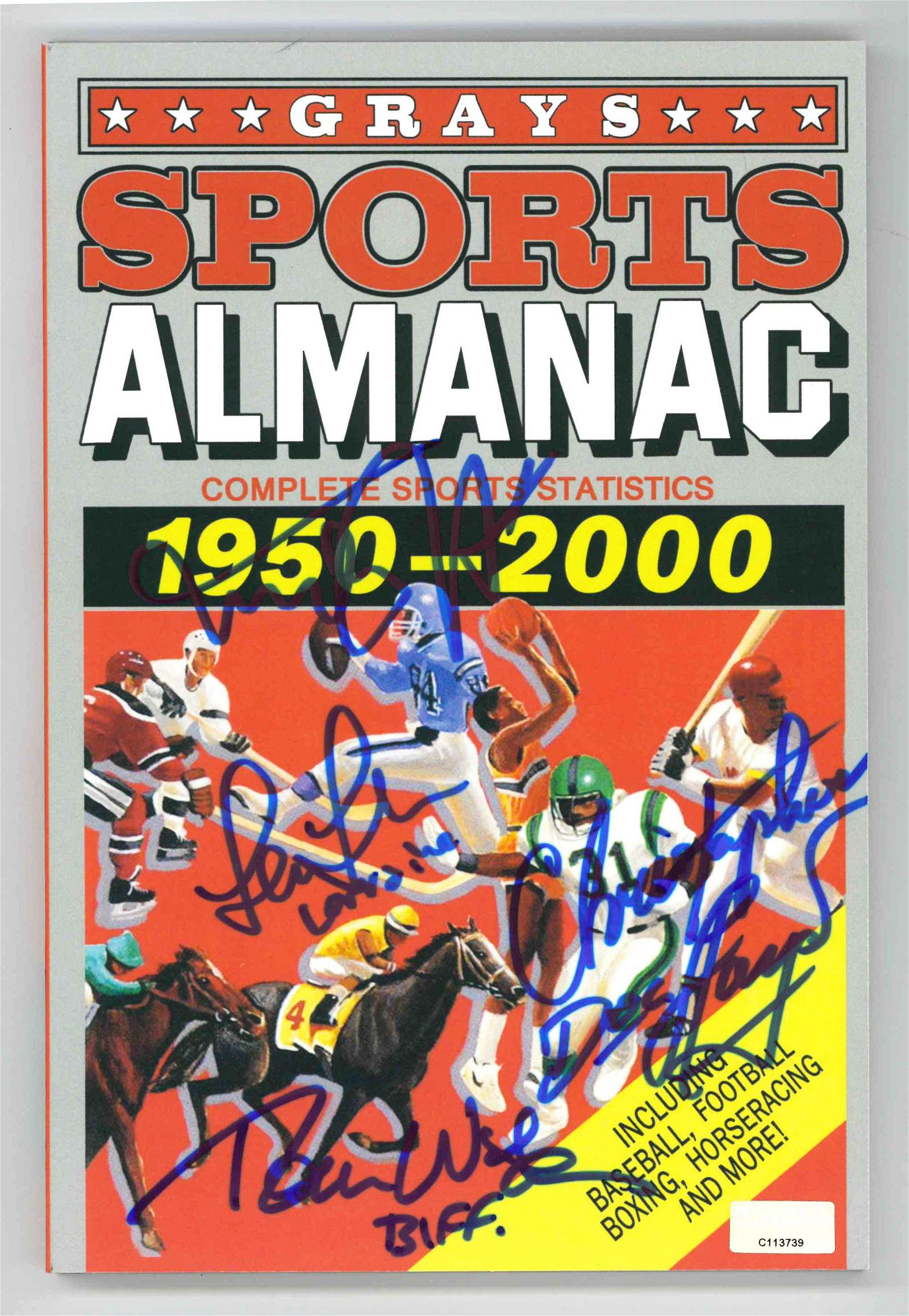 Back to the Future II Cast Signed Almanac Certified by