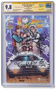 """Cast Signed """"Back to the Future"""" Comic, Graded 9.8"""