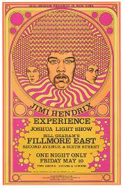 Jimi Hendrix 1968 Fillmore East Concert Poster, Fine