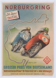 Nürburgring Grand Prix Motorcycle Racing Poster