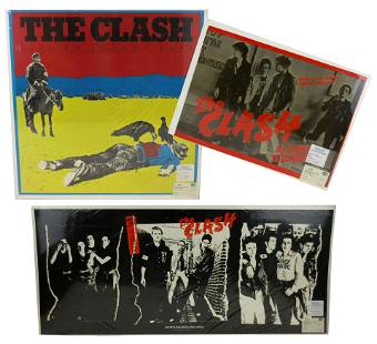 The Clash Three Vintage Promotional Posters, 1978-1980