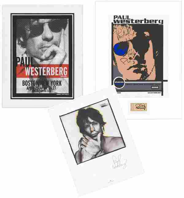 Paul Westerberg Signed Posters, Collection of Three