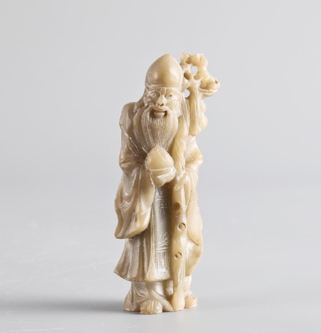 Jade carved character figure