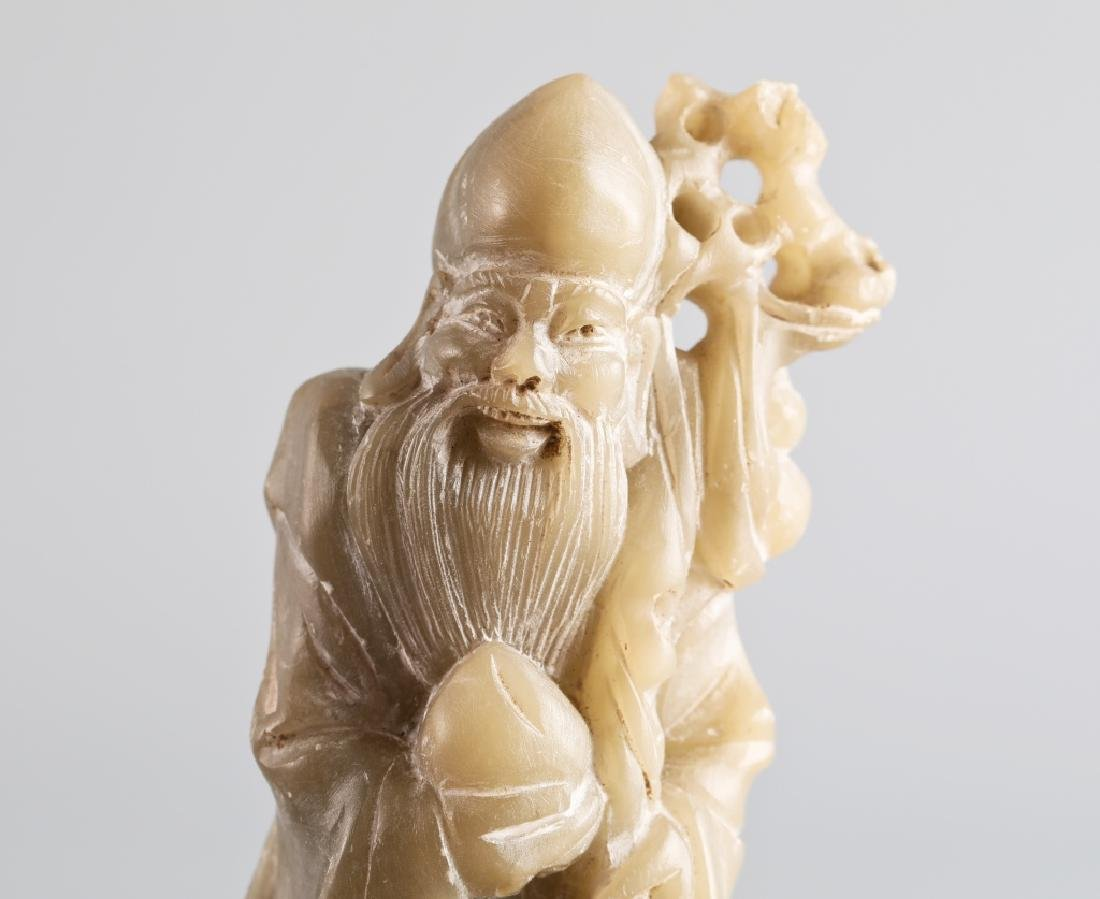 Jade carved character figure - 4