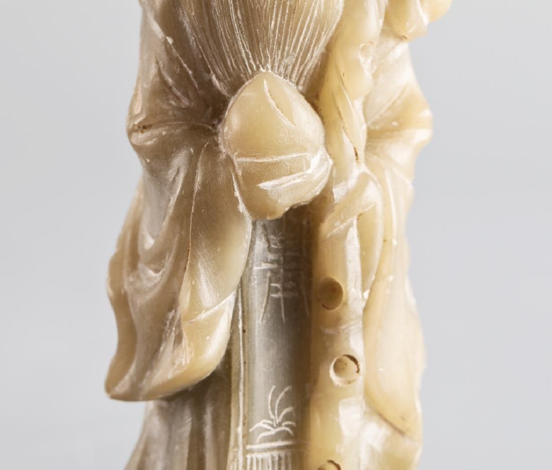 Jade carved character figure - 5