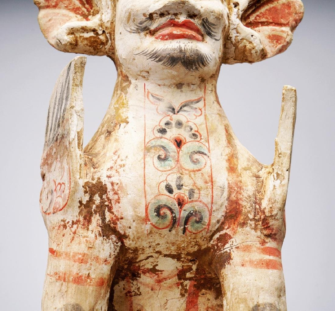 Tang dynasty Pained unglazed pottery Monster - 6