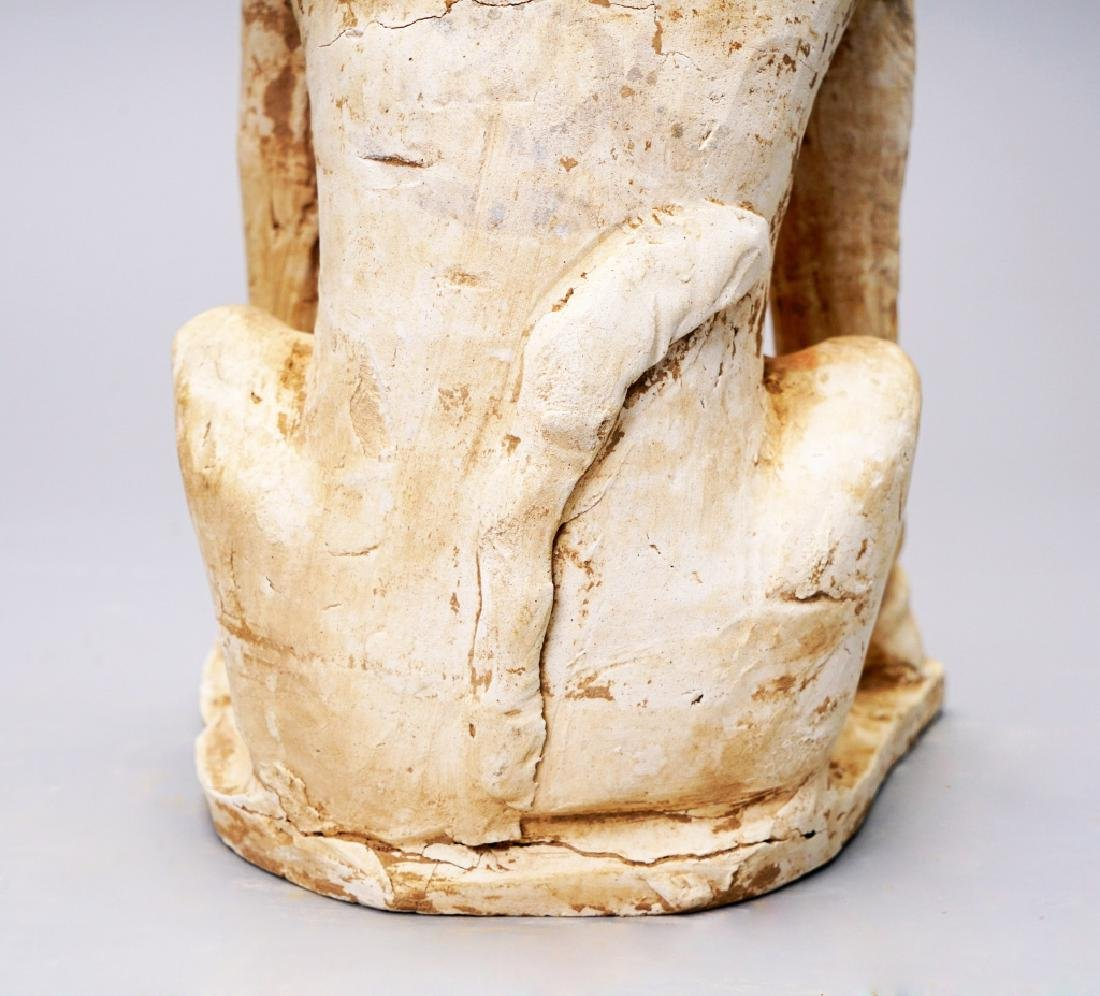Tang dynasty Pained unglazed pottery Monster - 8