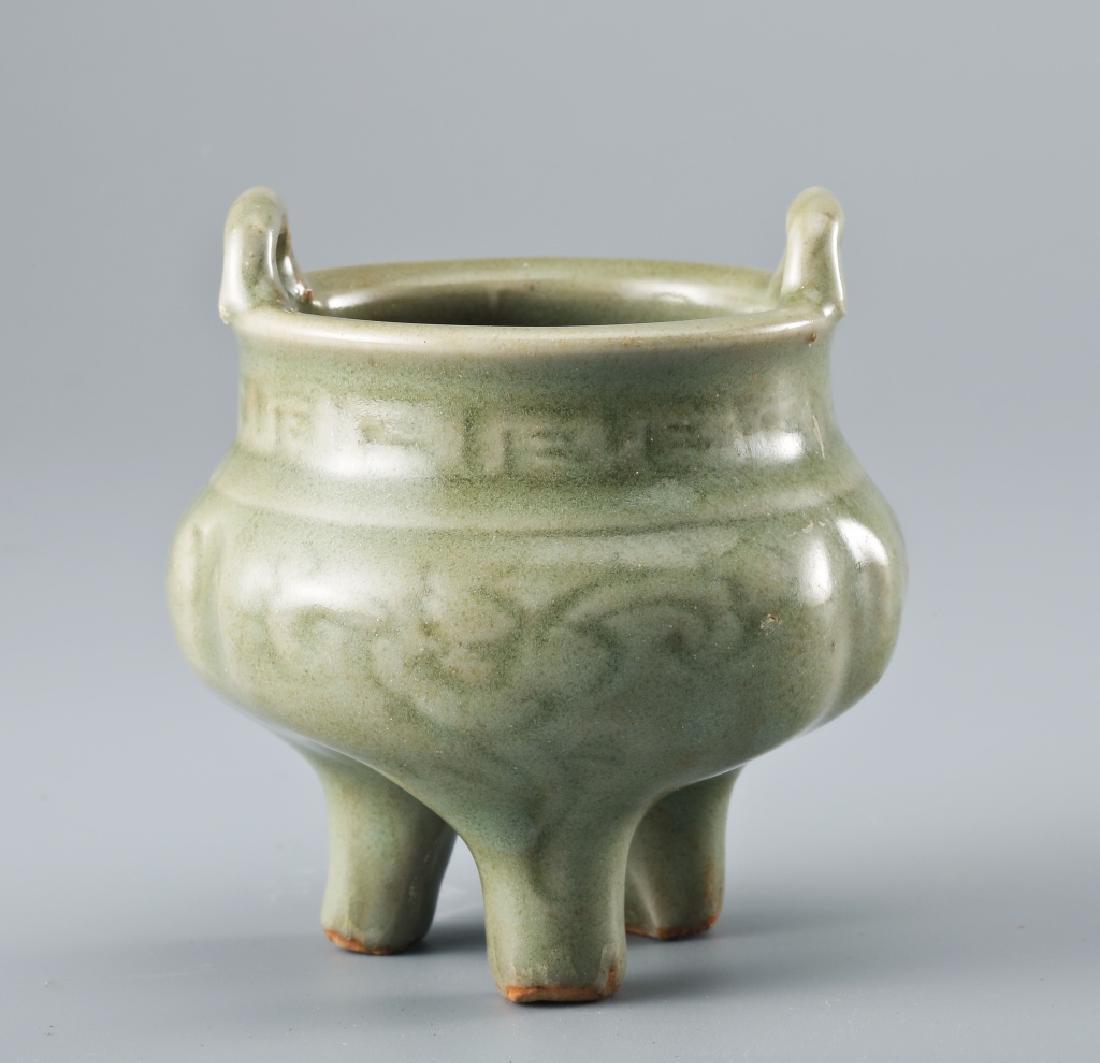 Longquan kiln flower grain Ge style censer