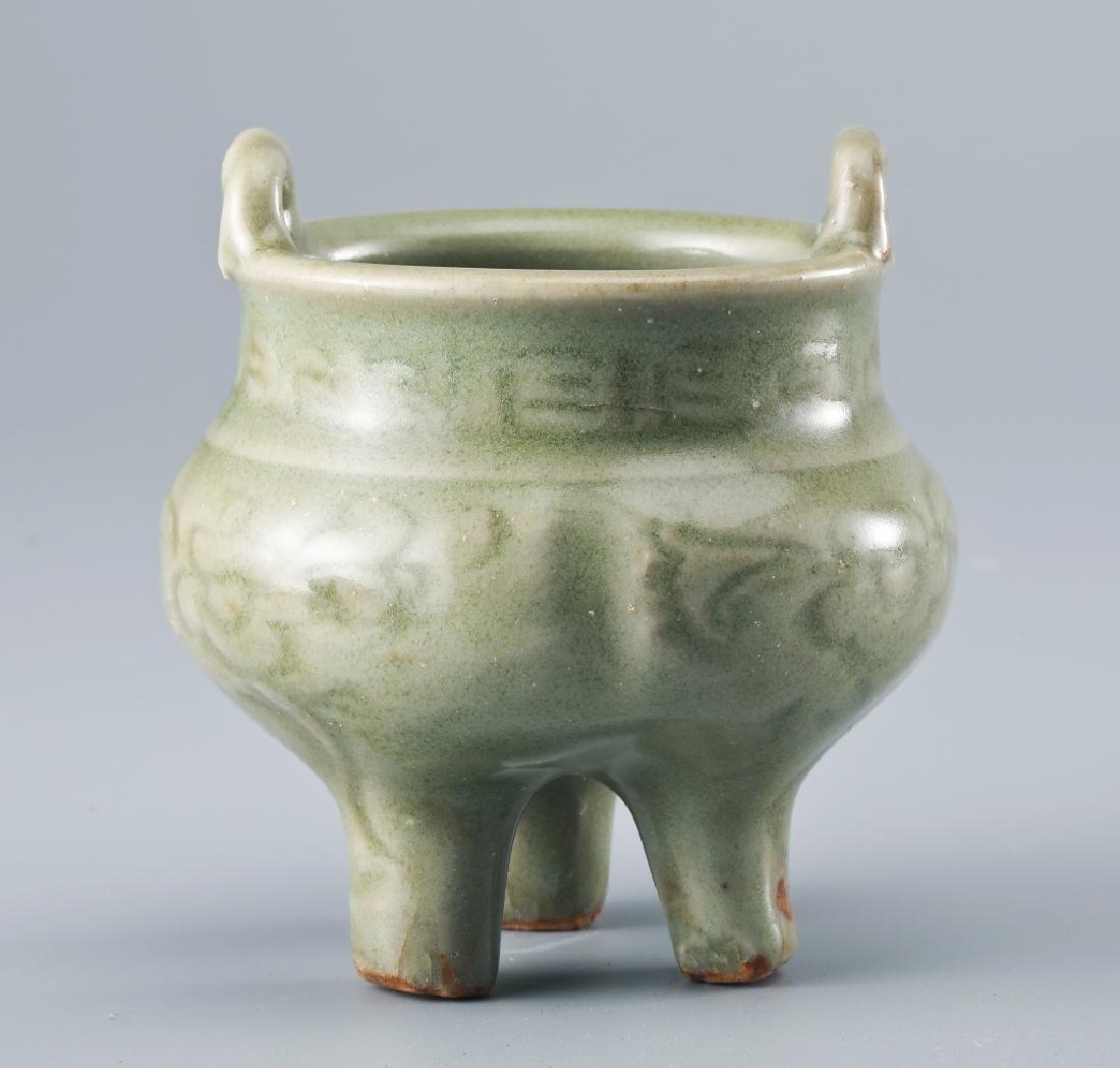 Longquan kiln flower grain Ge style censer - 2