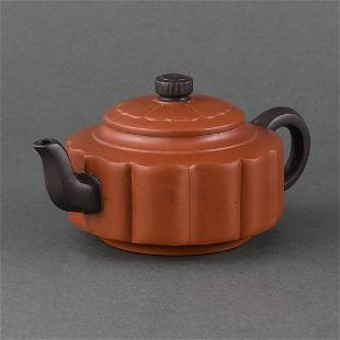 AN YIXING BAOLING-FORM TEAPOT AND COVER