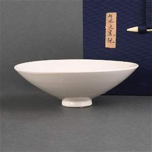 A 'DING' WHITE-GLAZED CONICAL BOWL