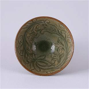A FINE 'YAOZHOU' CARVED CONICAL BOWL