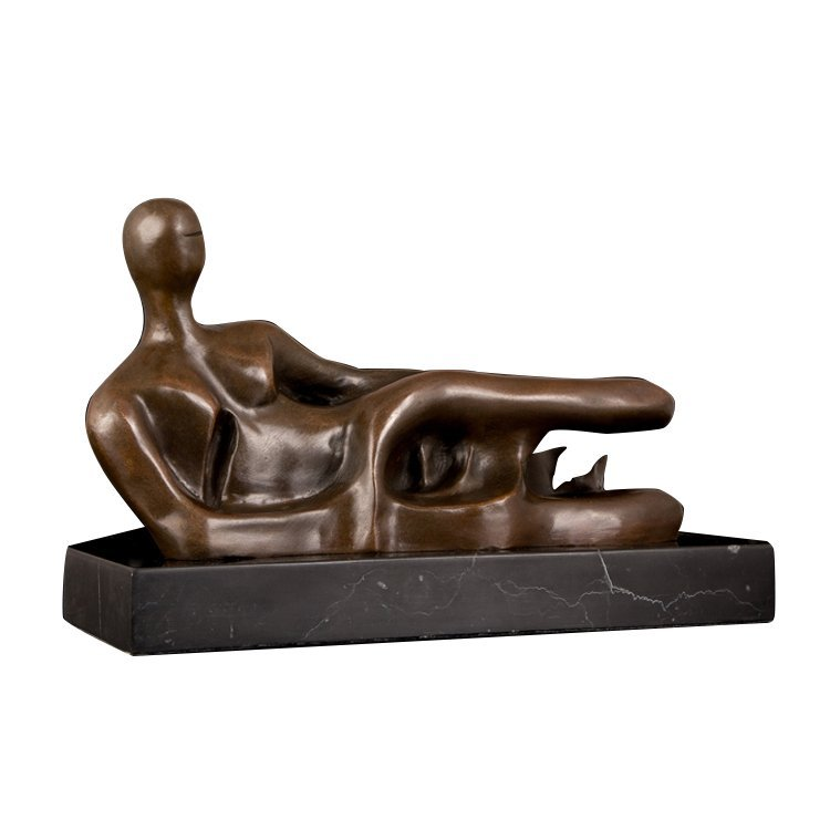 Bronze Nude Woman Lying Sculpture