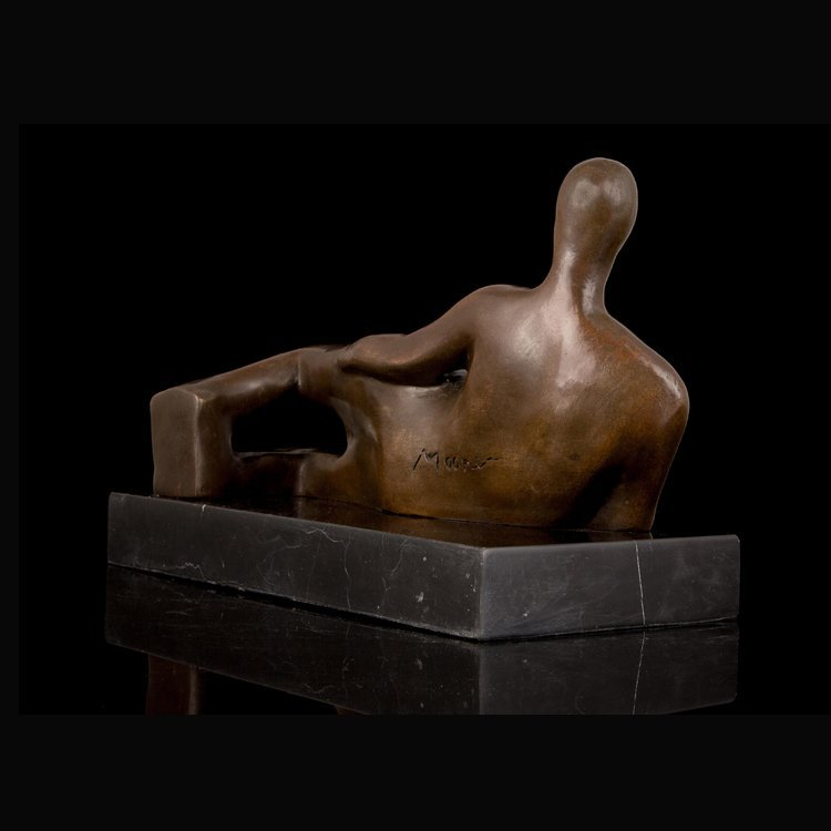 Bronze Nude Woman Lying Sculpture - 3