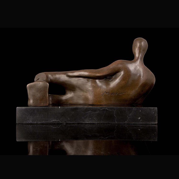 Bronze Nude Woman Lying Sculpture - 4