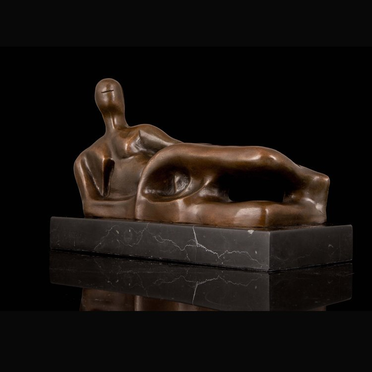Bronze Nude Woman Lying Sculpture - 5