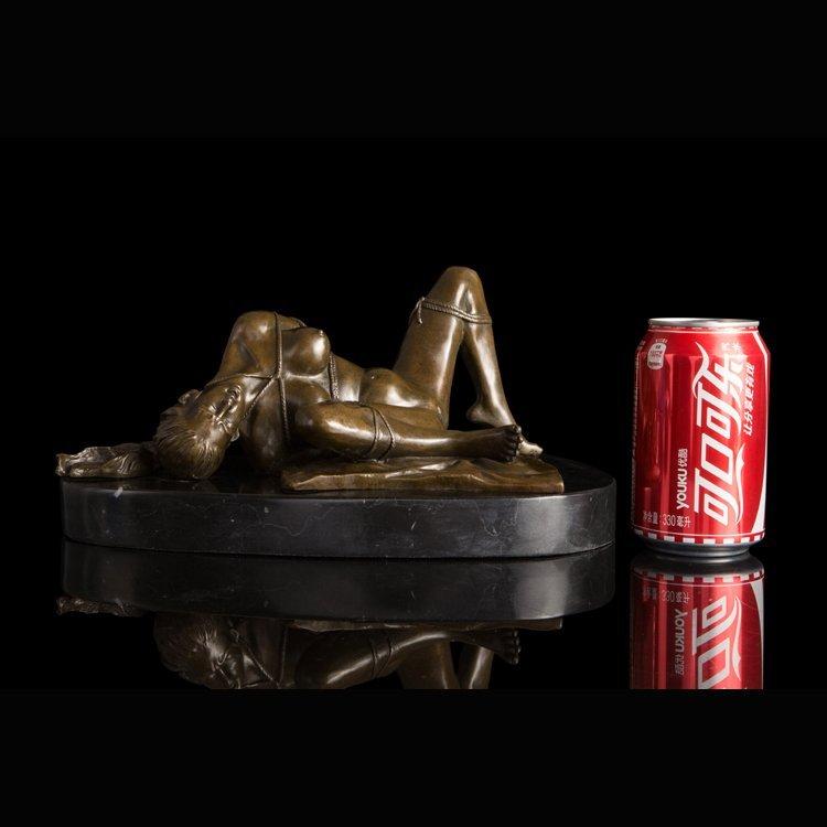 Bronze Art Deco Nude Women statue - 5