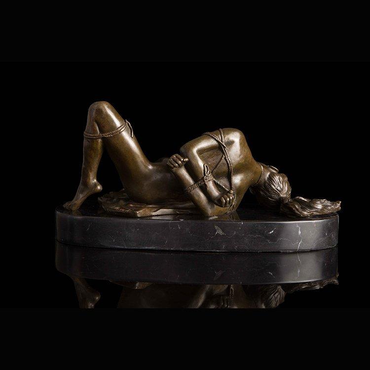 Bronze Art Deco Nude Women statue - 6