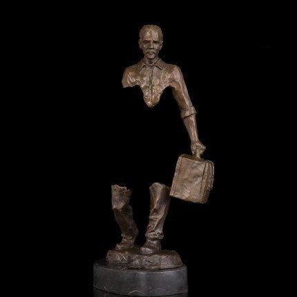 Bronze abstract traveller statue - 2
