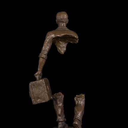 Bronze abstract traveller statue - 4