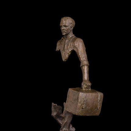 Bronze abstract traveller statue - 5