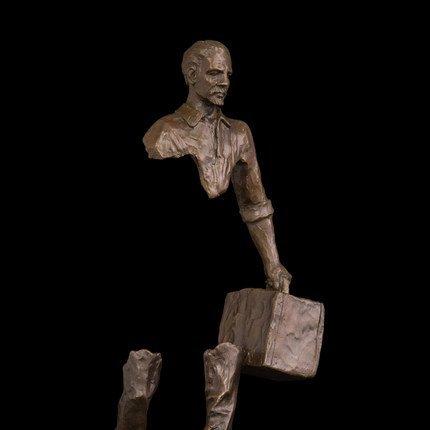 Bronze abstract traveller statue - 6