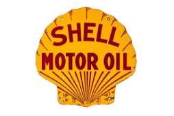 Shell Motor Oil Pecten Porcelain Sign