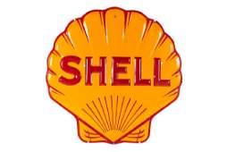 Shell Pecten Embossed Porcelain Neon Skin Sign