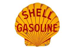Shell Gasoline Pecten Porcelain Sign