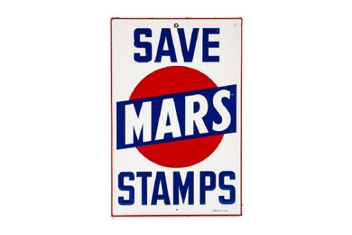 Save Mars Stamps Tin Sign