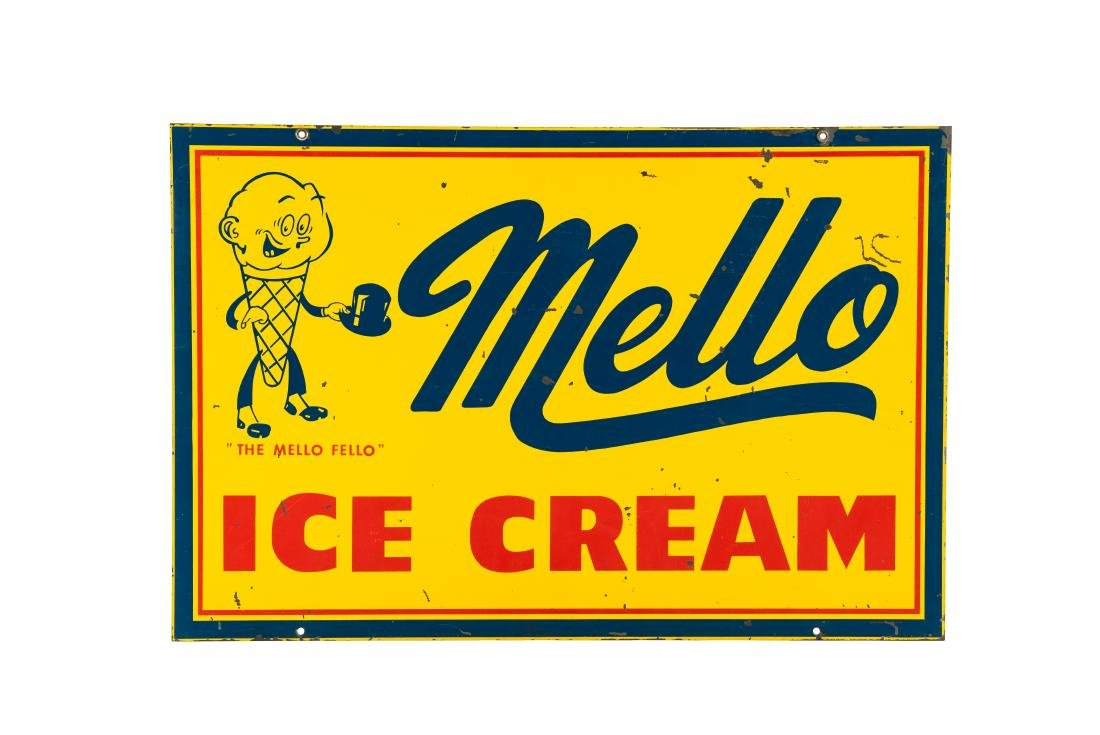 Mello Ice Cream w/logo sign