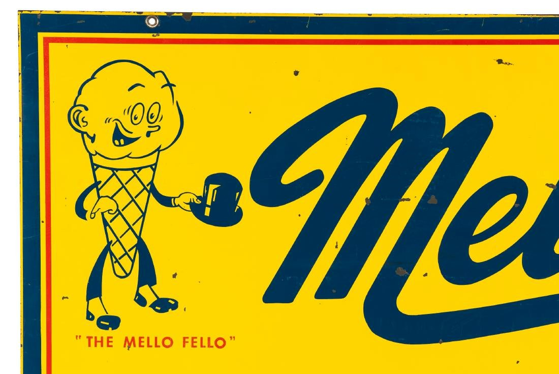 Mello Ice Cream w/logo sign - 2