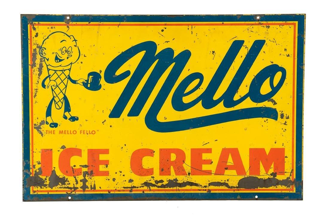 Mello Ice Cream w/logo sign - 4