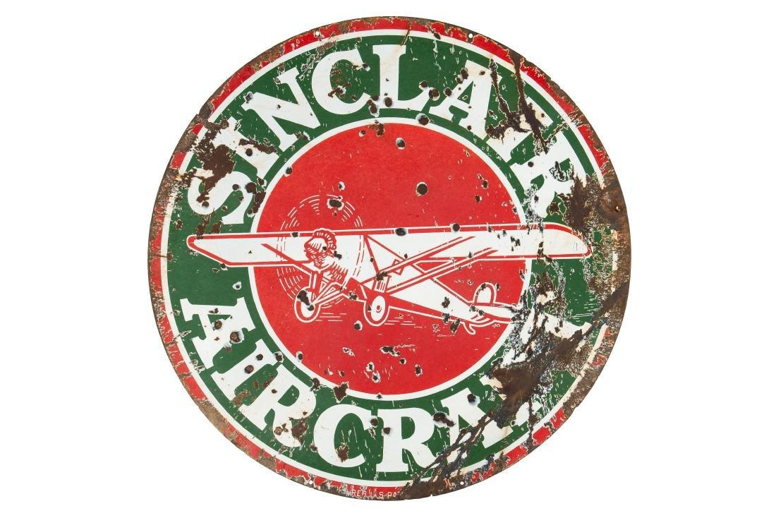 Sinclair Aircraft w/plane sign - 5
