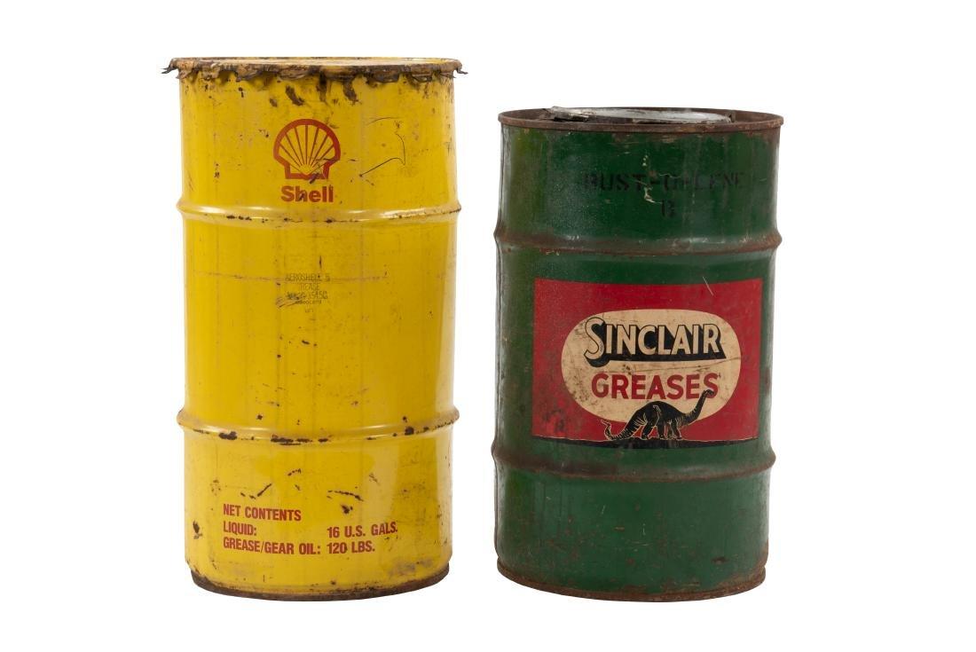 Shell & Sinclair Grease Barrels