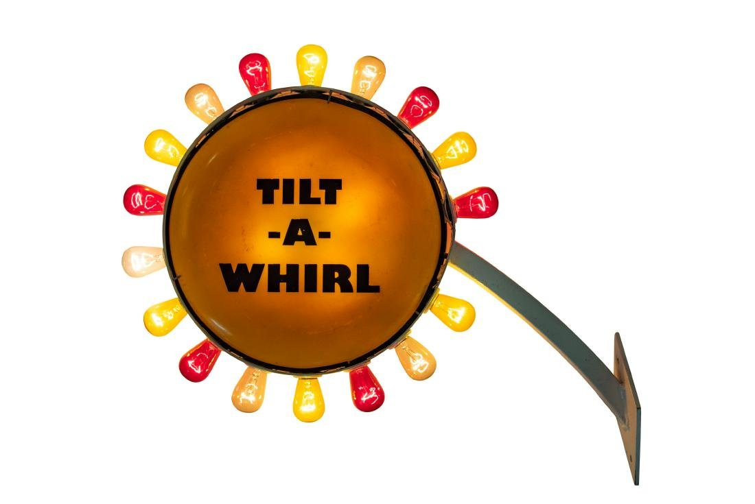Tilt-a-whirl Lighted sign