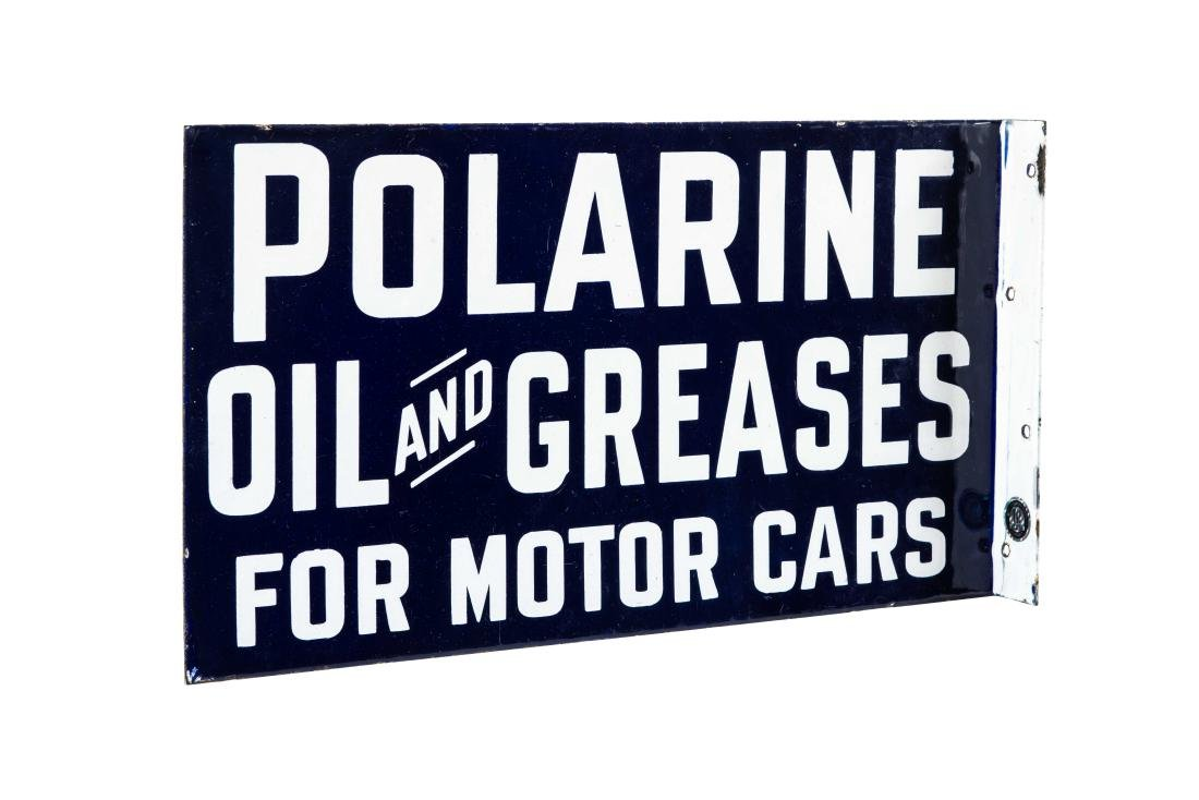 Polarine Oil And Greases Porcelain Flange Sign