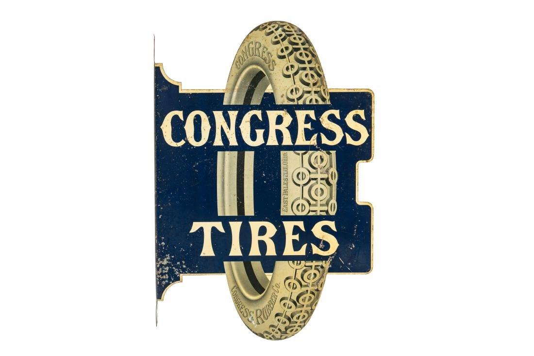 Congress Tires Tin Flange Sign