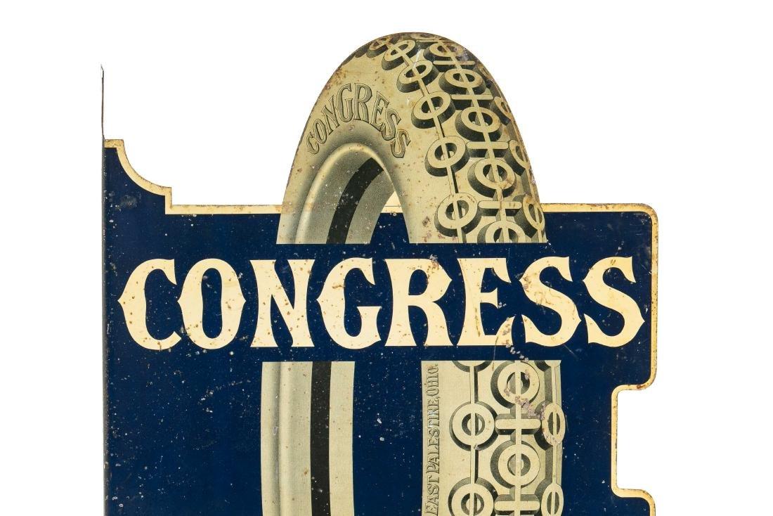 Congress Tires Tin Flange Sign - 2