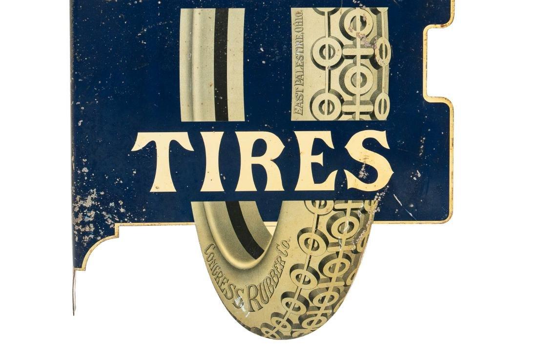 Congress Tires Tin Flange Sign - 3