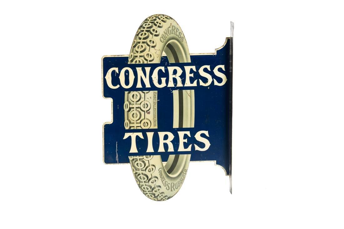 Congress Tires Tin Flange Sign - 4