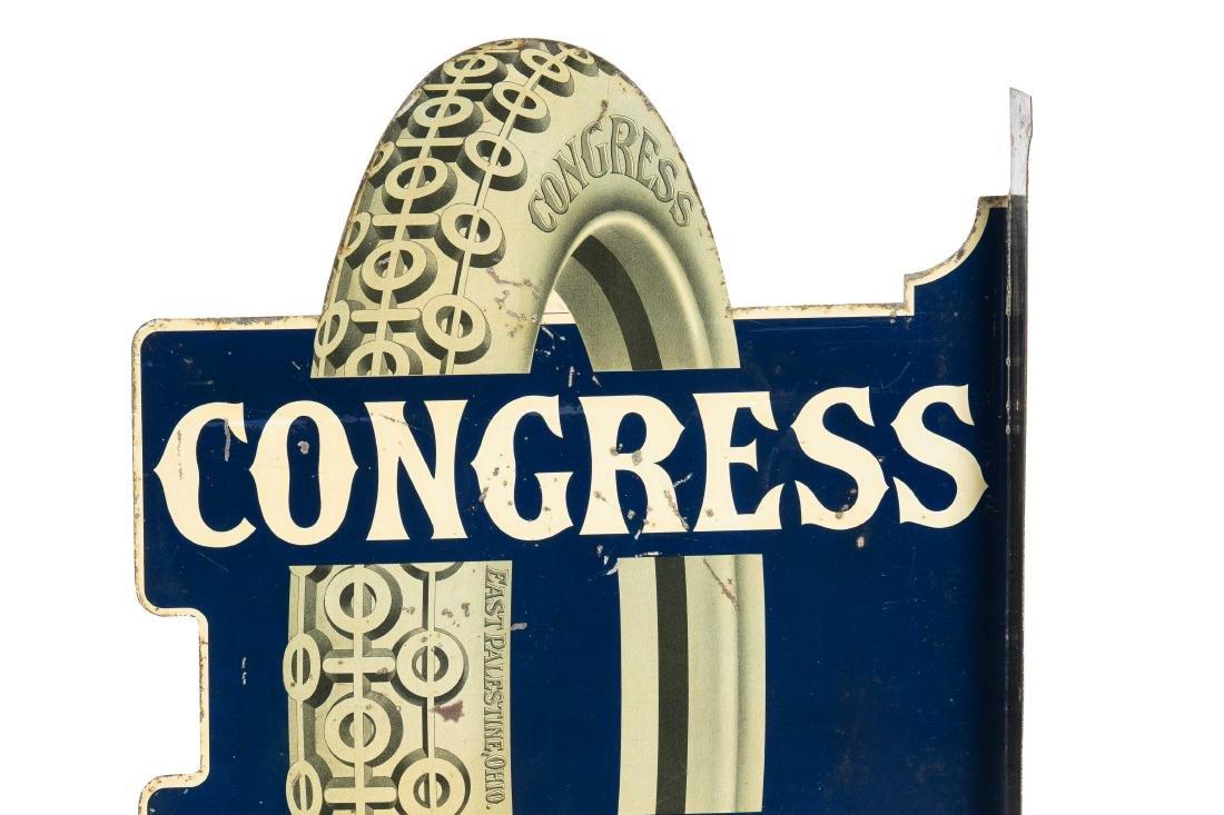 Congress Tires Tin Flange Sign - 5