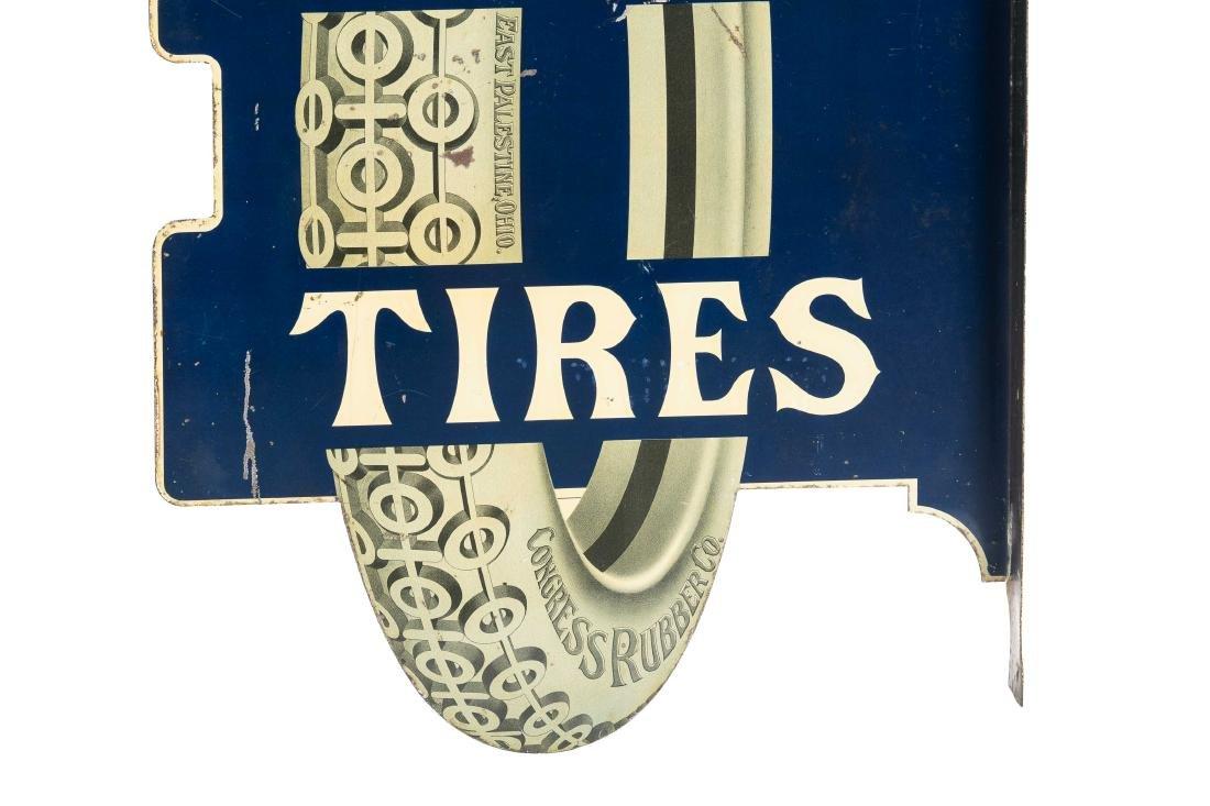 Congress Tires Tin Flange Sign - 6