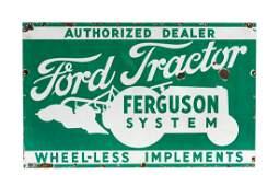 Ford Tractor Ferguson System Porcelain Sign
